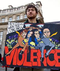 Student's take on violence Photo: Chris Beckett