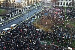 Birds-eye view of the protest at Parliament Square. Photo: cldry2