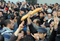Manifestación de la solidaridad en Túnez