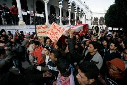 Caravan of Liberation in Tunis, 23 January. Photo: Nasser Nouri