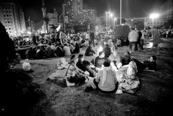 Camp at Tahrir Square last night. Photo: 3arabawy.