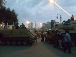 January 30 - Tanks in Tahrir Square - Photo: RamiRaoof