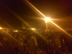 February 2 - Protesters gathering to defend demonstration - Photo: RamyRaoof