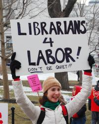 Librarians for labor. Photo: Peter Gorman