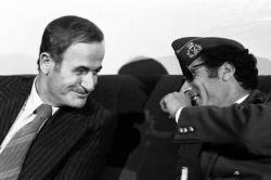 Assad y Qaddafi 1977