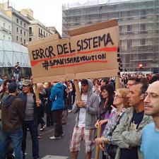 """The system is the problem"". Madrid, May 17. Photo: Jose A. Gelado"
