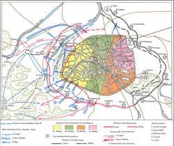 Map of troop movements. Illustration: Wikimedia/ Fourscore