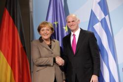 Merkel and Papandreou in happier times. Photo: Prime Minister of Greece