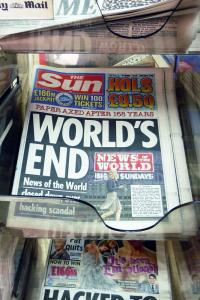Murdoch owned The Sun's take on the closure of the News of the World. Photo: Kat Kam