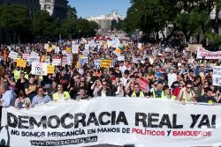 Democracia real ya! - Foto: arribalasqueluchan