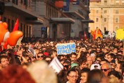 Oct 15 Rome crowd - Photo:Enrico
