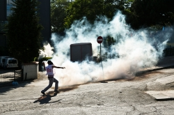 Teargas on the streets of Istanbul. Photo: Eser Karadağ