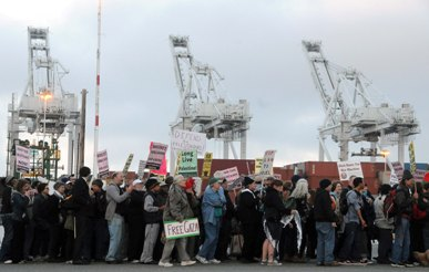 Dock workers in Oakland took action and delayed the unloading of a Zim cargo ship by over 24-hours