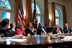 Obama Cantor Pelosi Boehner Reid McConnell-White House