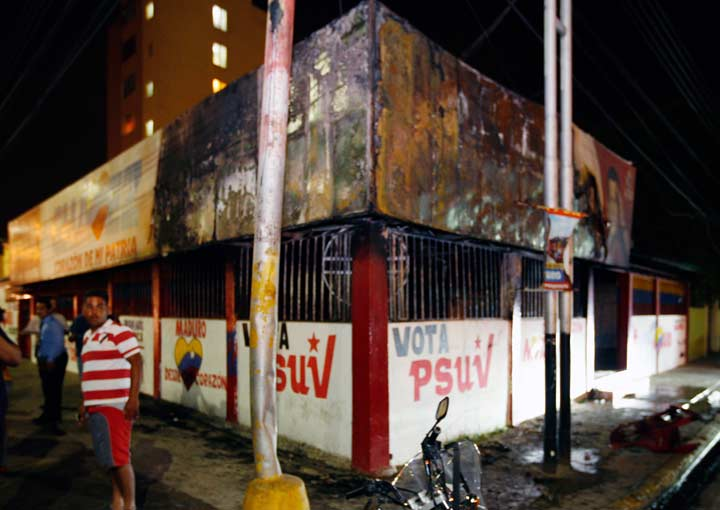 PSUV offices in Anzoategui attacked