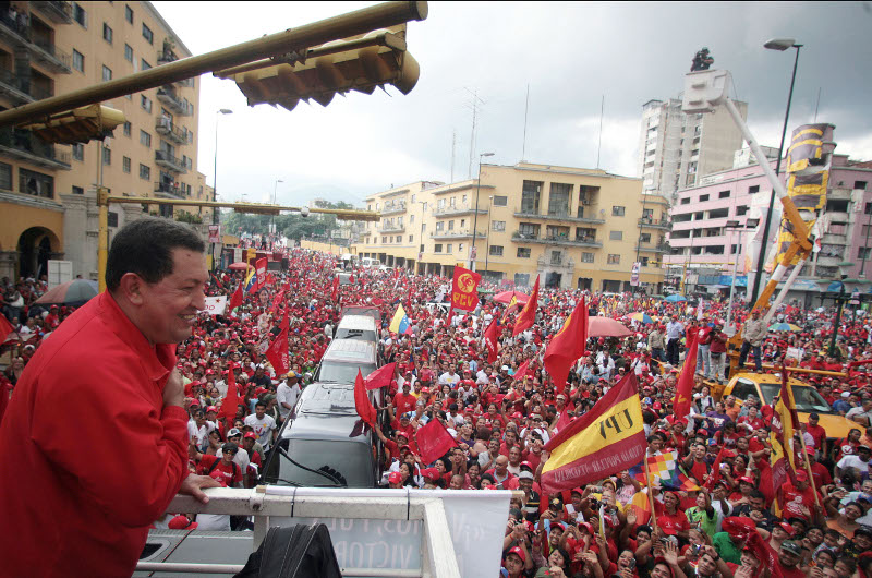 Election rally in Caracas. Photo: Prensa Miraflores