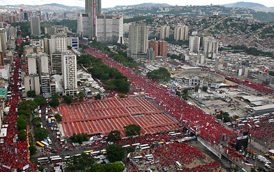Massive Bolivarian demo before the election in December