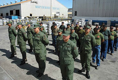 Alcasa workers train as part of the Army Reserve