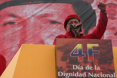 Chavez speaking
