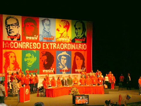 Opening session of the First Extraordinary Congress of the PSUV on November 21, 2009