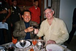 Alan Woods with Hugo Chávez