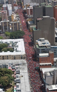 Same protest seem from above - Click to enlarge picture