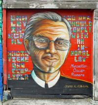 Romero on a San  Francisco wall. Photo by Franco Folini.