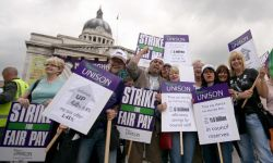 Public sector workers are going to come under increasing pressure as savage cuts are introduced. Photo by Bob Watt.
