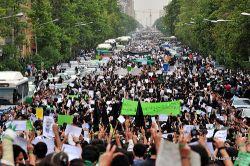 Silent demonstration for the killed demonstrators of the recent days. Photo by Hamed Saber.