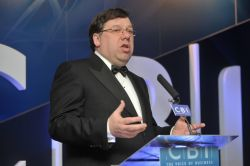 Taoiseach Brian   Cowen addressing the annual dinner of the Confederation of British   Industry (CBI) Northern Ireland.