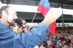 Carlos d'Oliveira, presidente  ejecutivo de SIDOR, electo por los trabajadores. Foto de Presna SIDOR.