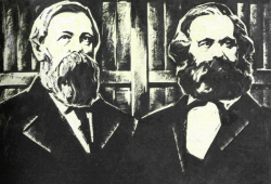 Marx and Engels took part in the founding of the  First International, which was an anticipation for the future.