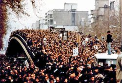 Mass demonstration  during revolution of 1979