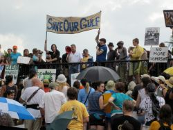 Protest in New Orleans against the oil spill. Photo by Infrogmation.