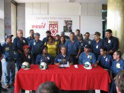 Rueda de prensa de trabajadores de SIDOR a favor  del Control Obrero. Foto de Jason Netek.