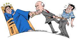 Drawing by Latuff