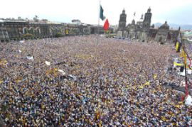 Mass movement in Mexico City against electoral