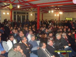 Meeting of FIAT workers in Pomigliano 