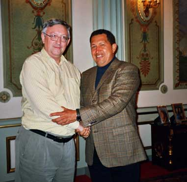Hugo Chávez with Alan Woods