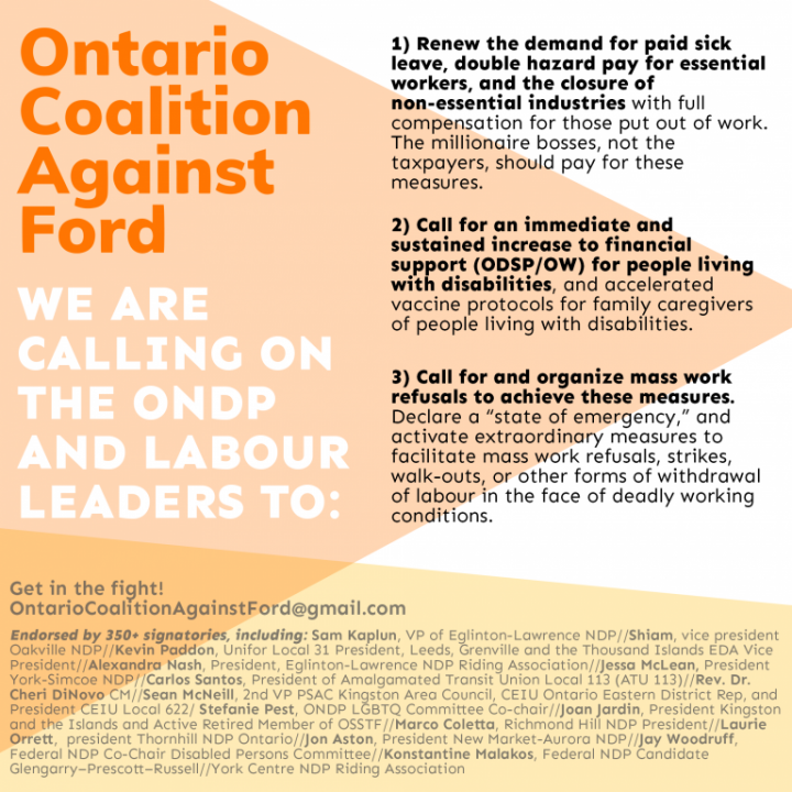 OCAF Image Ontario Coalition Against Ford