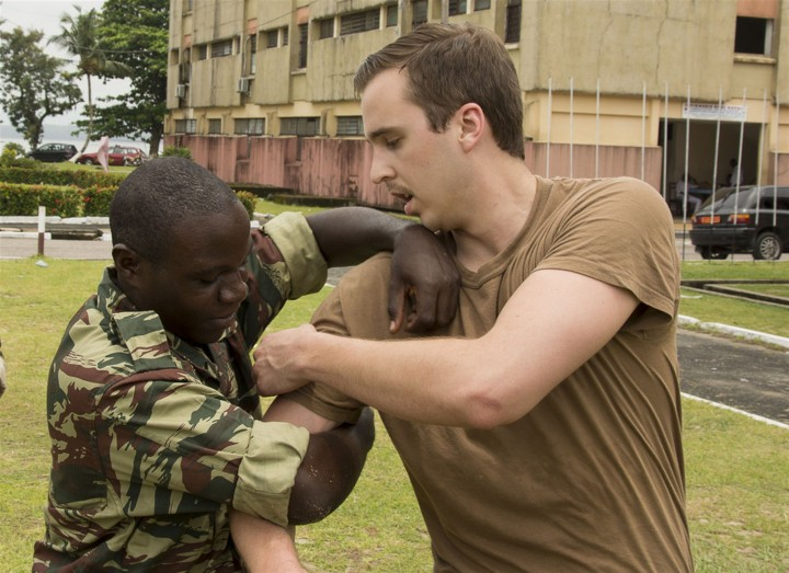 us sailors conduct search and seizure familiarization training in douala Image US Military