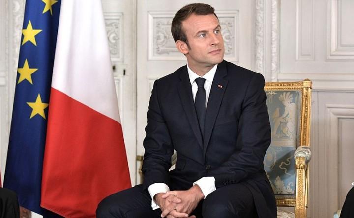 Vladimir Putin and Emmanuel Macron Image PoR