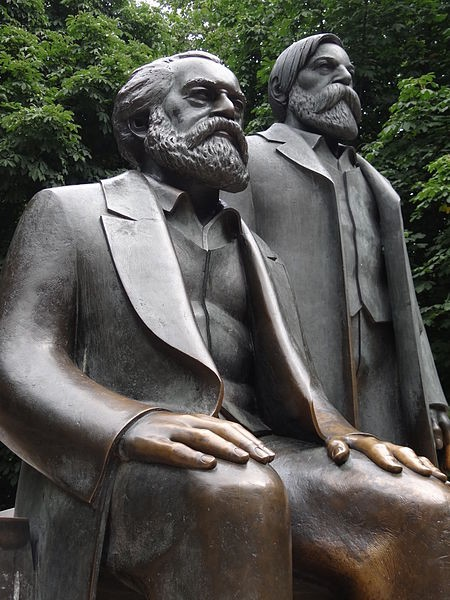 Statues of Karl Marx and Friedrich Engels Adam Jones Ph