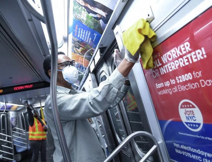 NYC Subway Coronavirus Disinfection Image Flickr Marc A. Hermann