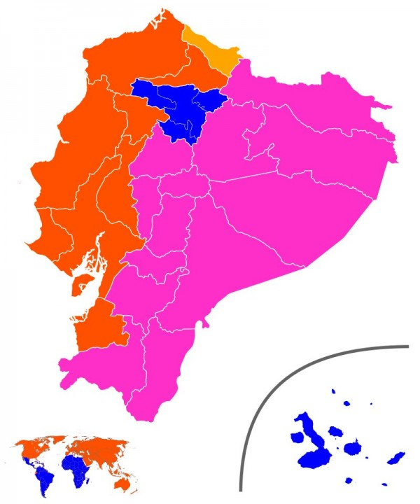 Votos Presidente por Provincia Ecuador primera image david cs