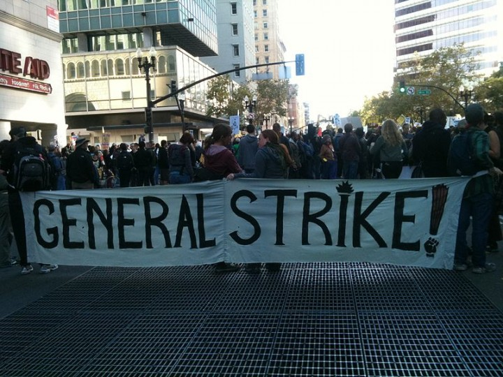 General strike Image Rachel librarian