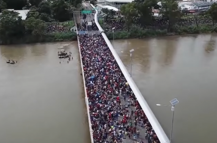 Migrant caravan Image fair use