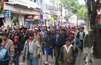 Demonstration in Cochabamba