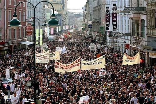Student strike on April 24 in Linz