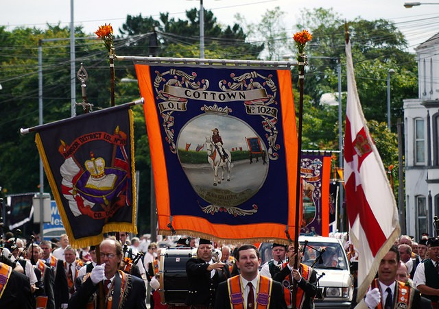 Orangemen parade in Bangor Image Ross